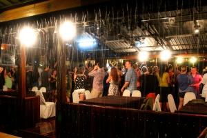 Dancing in the rain!
