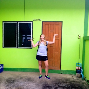 My new home! Loving the bright color. :)