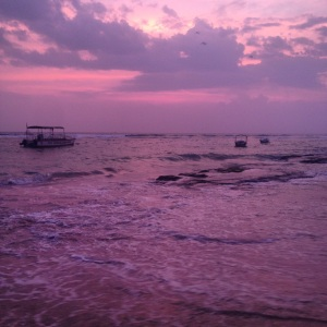 Sunset on Hikkaduwa