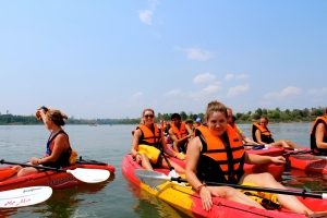 Kayaking to find the endangered Irrawaddy fresh water dolphins!